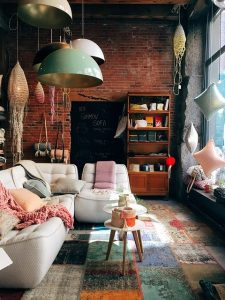 home setting with designer homewares