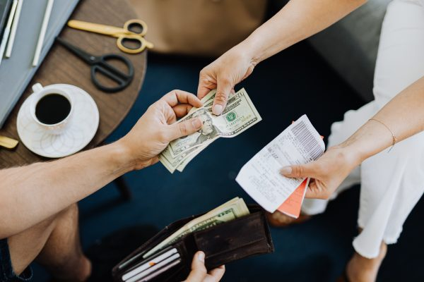 instant loans being given to someone