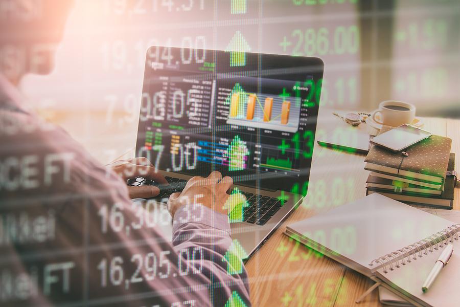 Trader checking Australian shares ASX price