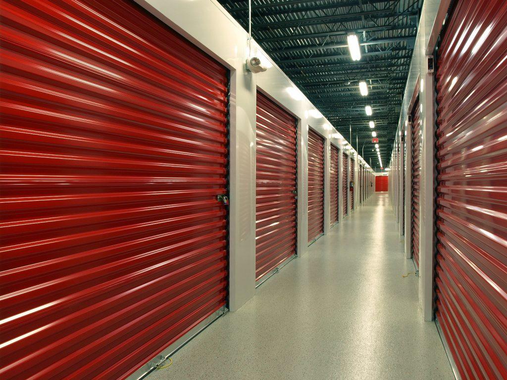Indoor Newcastle storage units with hallway perspective